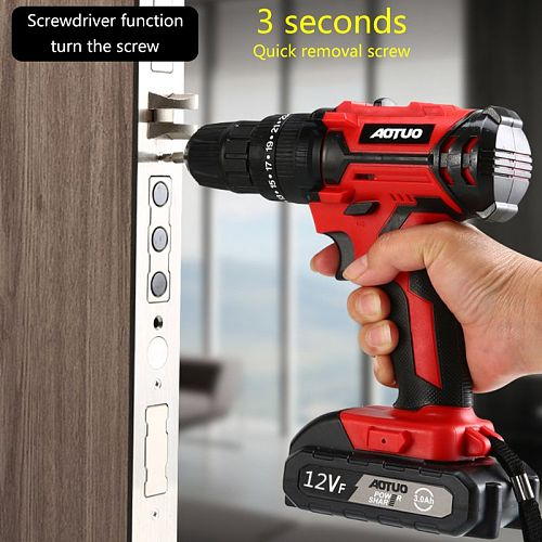 12V Electric Screwdriver Wireless Power Driver DC Rechargeable Lithium-Ion Battery Home