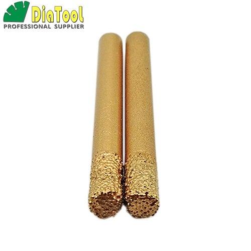 SHDIATOOL 2pcs 6/12mm X60mm Cylinder Flat-end, CNC STONE Engraving Bits /CNC Tool, Stone Carving Tools, Diamond Burrs, End Mill