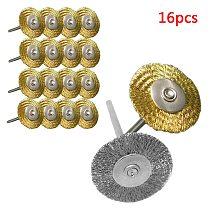2.35/ 3mm Shank 1pc/ 10pcs/ 16pcs Wool Felt Grinding Sanding Head Abrasive Buffing Wheel Cotton Thread Polishing Brush