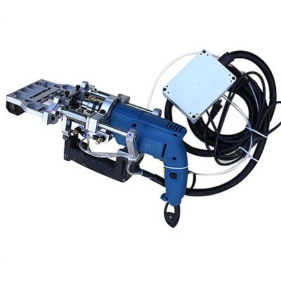 3-in-1 Pneumatic side hole machine 500W horizontal Woodworking puncher drill Puncher Wood Tenoning Drilling Tool