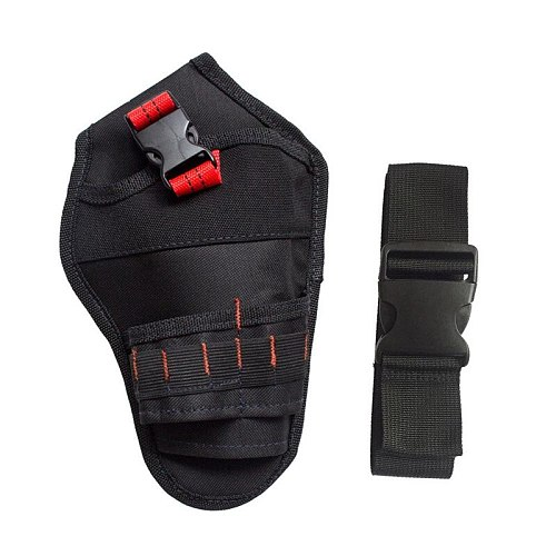 Multi Tool Bag Portable Heavy Duty Drill Driver Cordless Electrician Tool Bag Holder Pouch Waist Cordless Drill Storage Pocket