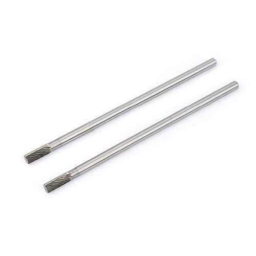 1PC 150mm Length Rotary Burrs Abrasive Tools Cylinder Type Grinding Head Tungsten Carbide 6mm Shank Longer Rotary File