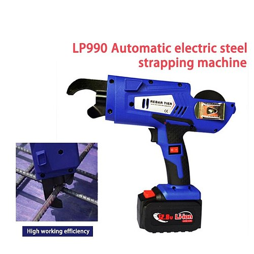 LP790/ LP990 Automatic Rebar Tying Machine Tier Binding Machine Wire Knotting Cordless Rechargeable Lithium Battery Electric