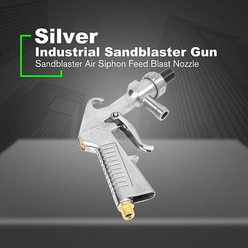 Abrasive Air Sand Blasting Gun kit 1 Ceramic Nozzle 1 Steel Nozzle 1 Sand Suction Pipe Industrial Sandblaster Gun