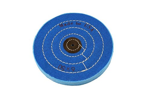 Free Shipping Diameter 4  & 6 (2pcs/lot) Grinding Wheel Machine Blue Cotton Cloth Buffing Wheel Polishing Grinding Tool