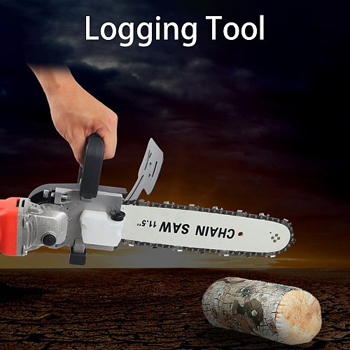 Black Electric Chain Saw Cutting Part Portable Portable Electric Drill Felling Saw Multifunction Practical Durable