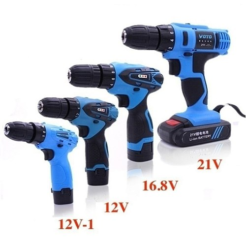 Multifunctional Electric Hand Drill Household Cordless Screwdriver Drill Rechargeable Power Tools Screwdriver