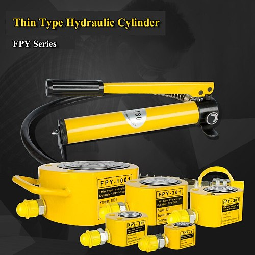 Super Thin Type Hydraulic Cylinder FPY-301 Hydraulic Lifting Jack Work Travel of  14mm Output 30 Tons