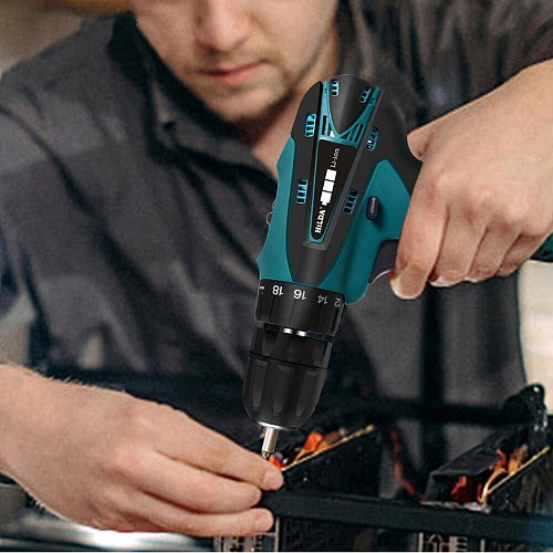 16.8V Cordless Drill Electric Screwdriver Wireless Hand Drill Power Driver For Drilling Tighten Screw Tools Lithium-Ion Battery