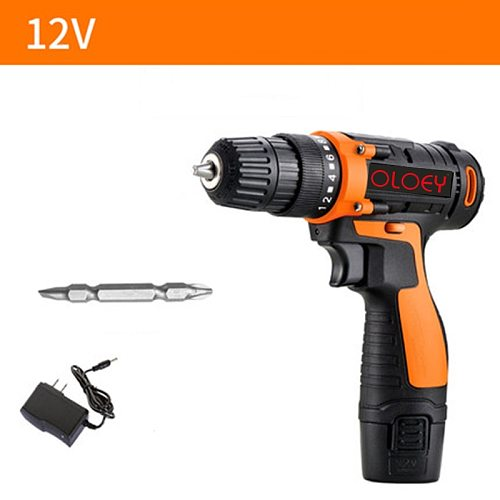 12V  16.8V 25V Electric Drill Electric Screwdriver  Lithium Battery Charging Cordless Drill Wrench Torque Power Tools