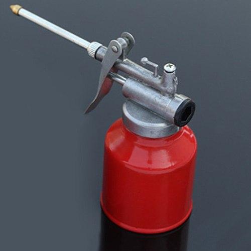 250ml Machine Oiler Pump Spray Gun Metal Oiler High Pressure Long Beak Oil Can Pot Hand Tools for Lubricating Airbrush Hot