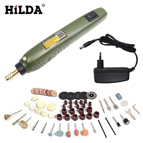 HILDA Grinding Accessories Set + Dremel Mini  Electric Drill Multifunction Engraving Machine Electric Tool kit
