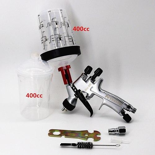 Mini Spray Gun Paint Spray Gun Air Spray Gun With 165 /400cc  Spray Gun Paint Mixing Cup And Adapter 1.2mm Nozzle  Airbrush