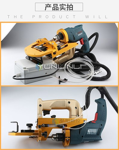 Side Hole Puncher CNC Plate Type Cutting Machine Woodworking Pneumatic Puncher Three-in-one Horizontal Drill HY