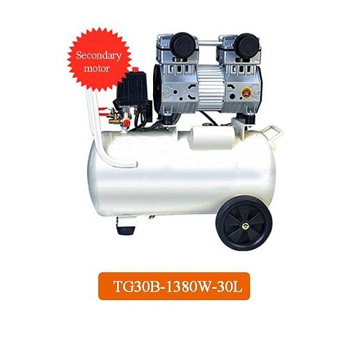 1PC Small Air Compressor Oil-free Silent Air Compressor Machine Portable Dental Laboratory Mobile Air Compressor Machine