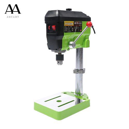 AMYAMY  Mini Drill Press Bench Small Drill Machine Work Bench with 5 Speed Adjustable 220V EU plug 5168E