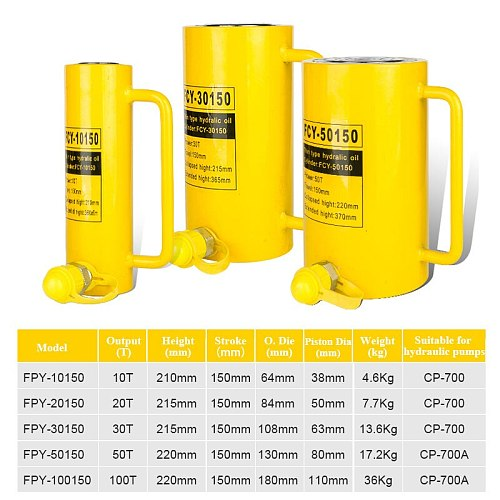 Long Type Hydraulic Cylinder FCY-20150 Hydraulic Jack with Output of 20T, Piston Stroke of 150mm