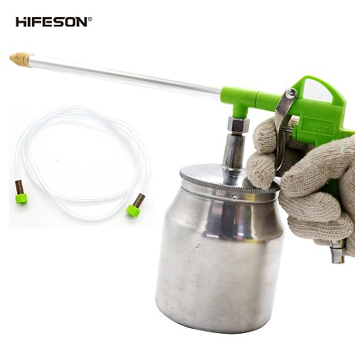 HIFESON Air Clean Gun With Aluminum Alloy Pot Pistol Pneumatic Dust Removal Gun Air Water Daul Use Cleaning Tool for Compressor