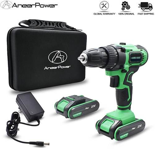 3 Modes 21V New Style Impact Drill Cordless Battery Drill 1500 Ma Lithium Battery Rechargeable Electric Screwdriver 10mm Chuck
