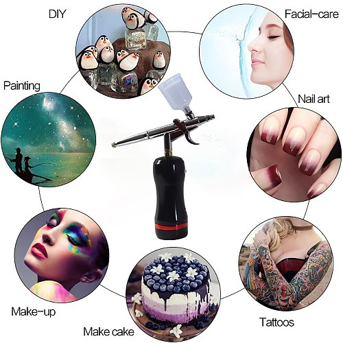 hot sell very convenient cordless wireless makeup nail beauty cake airbrush compressor kit