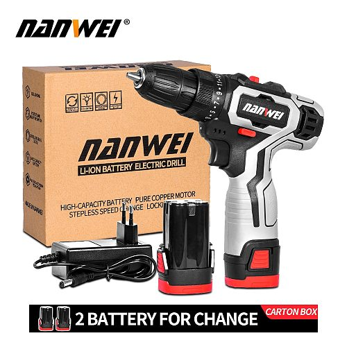 12V 18Vcordless drill mini drill for wall small Screwdriver  Lithium-Ion Battery 3/8-In new color