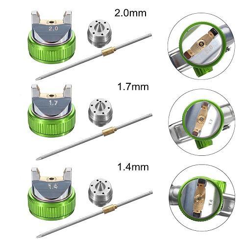 WENXING G2008 Professional HVLP 1.4/1.7/2.0mm Nozzle Gravity Pneumatic Air Paint Spay Gun For Car Auto Repair Tool Painting Kit