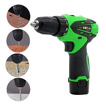 1Pcs 12V Electric Screwdriver Drill Rechargeable Multifunction Wireless Electric Drill With Lithium Battery Drills
