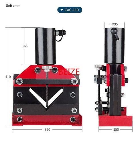 CAC-110 Hydraulic Split Angle Busbar Cutter Tool  Hydraulic Angle Steel Cutting Machine Force 30T