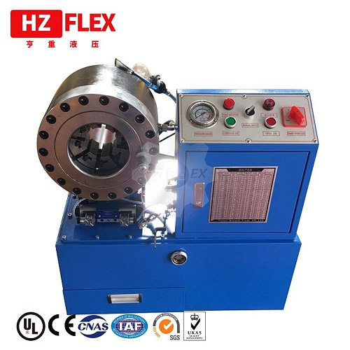 CE Verfied hydraulic crimping tool Automatic 380v 3kw 3 ph HZ-68 51mm 4SP R12 rubber hose crimping machine