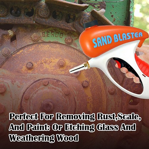 LEMATEC Ergonomic Sand blasting Gun mini sandblaster sandblasting gun Taiwan made air tool for rust oil dust paint remove tool