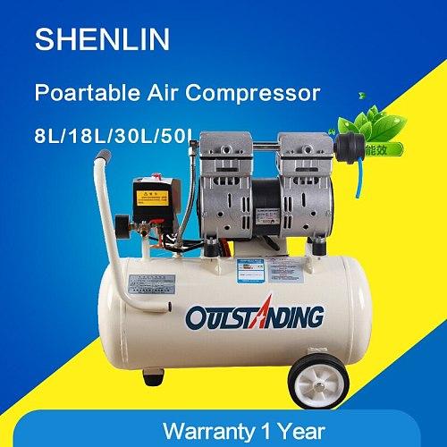 Portable air compressor air pressure regulator 0.7MPa pressure,8L air pool cylinder,compressed air supply,noisy less oil free
