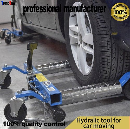 High-grade aluminum alloy pipe hydraulic car moving car seat mobile 12-inch max for 4T car moving