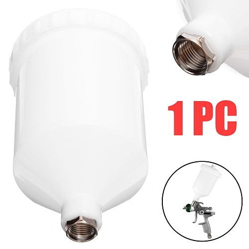 1 pcs Plastic Sprayer Cup White Spray Paint Cup Pot  20mm Thread Connector For Spray Gun Accessory Power Tools Accessories