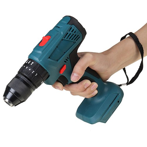 3IN1 Drillpro Cordless Electric Impact Drill 13mm Rechargeable Electric Screwdriver Drill Power Tool for Makita Battery