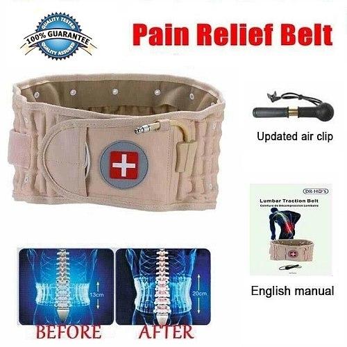 Lumbar Spinal-air Decompression Back Belt Air Traction Waist Protect Belt Pain Lower Lumbar Support& Extender Belt Best
