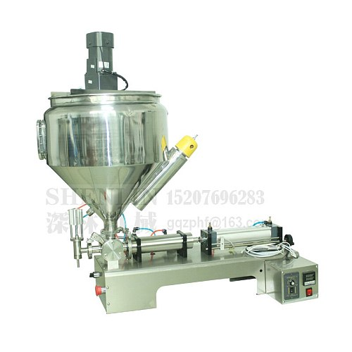 Filling machine, pasta stuff packing filler, cream filling machine, 1000ml, SS304, stainless, 30L hopper, Heating and mixing