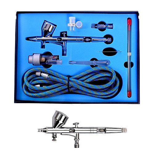Professional Airbrush Kit with 0.2/ 0.3/0.5mm Nozzle Set Dual Action Airbrush Air Kit Spray Gun Set For Nail Paint Art Air Brush
