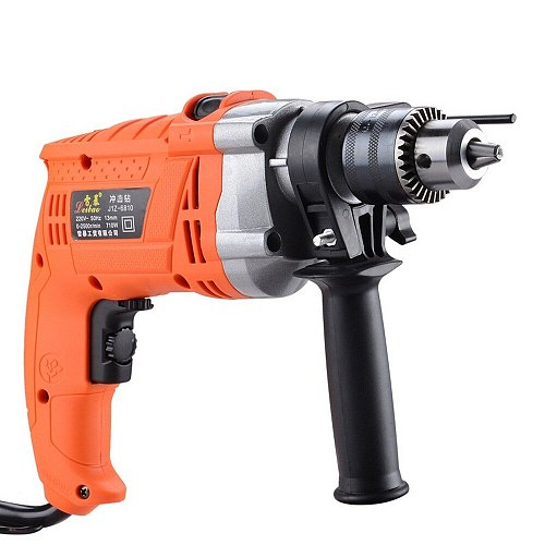 Electric Drill Hammer Impact Drill Adjustable Speed 220v 750W Rotary 3000r/min Household Pistol Drill Multi-function Power Tools