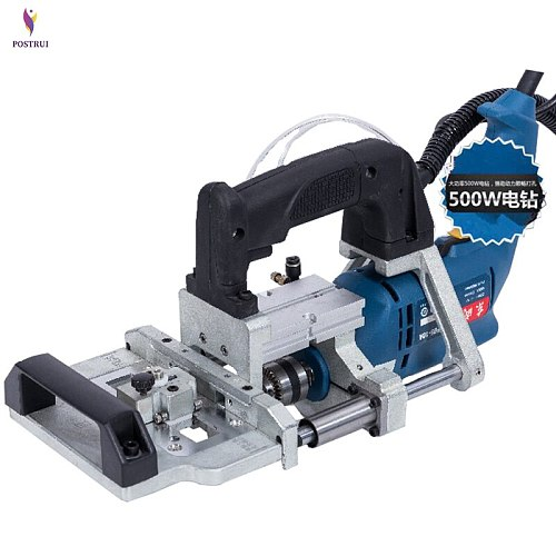 3-in-1 Pneumatic side hole machine 500W horizontal Woodworking Furniture puncher drill Puncher Wood Tenoning Drilling Tool