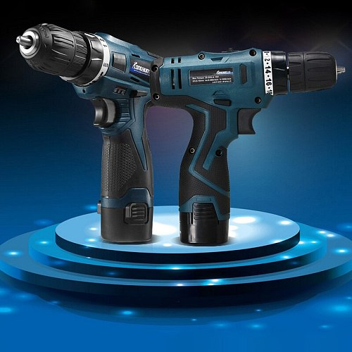 16.8v Electric Drill Cordless Screwdriver with Spare Lithium Ion Battery Home Multifunction Electric Screwdriver
