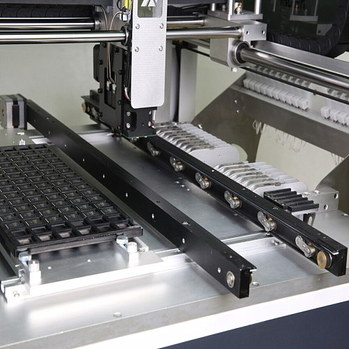 PCB Easily automatic feed and exit pick and place model NeoDen4 with internal rails