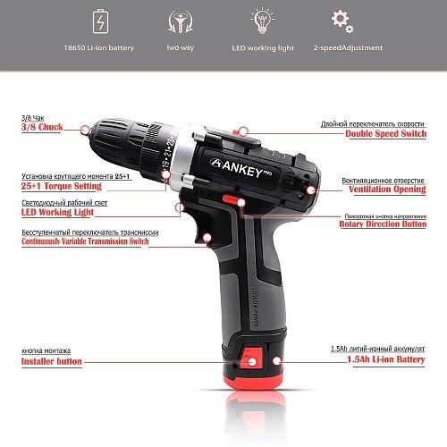 16.8V Electric Tool Screwdriver Electric Cordless Drill Power Tools Speed Mini Bit Battery Sans Electric Tools Mini Drill Set