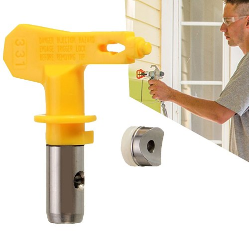 Airless Paint Sprayer Nozzles Yellow 3 Series Airless Spray Tip Spraying Accessories For Airless Spray Gun And Paint Sprayer
