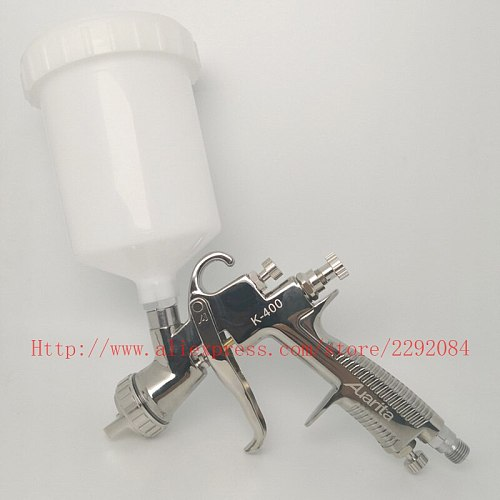 Professional Spray Gun K-400 LVMP 1.4mm 1.7mm Gravity Feed Air Paint Spray Gun Set with 600cc cup