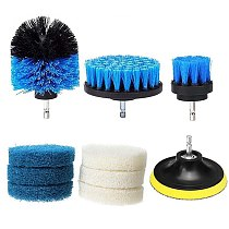 10Pcs/Set Power Scrubber Brush Drill Brush Cleaning Bathroom Surfaces Cleaning Tool Tub Shower Tile Grout Cordless Scrub Cleaner