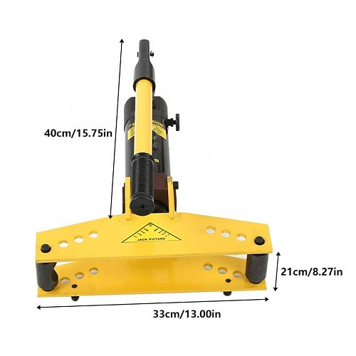 Hydraulic Pipe Bender Hydraulic Crimping Pliers and Tube Bender with 4 pcs Bending Hydraulic Tools (3/8  - 1 )