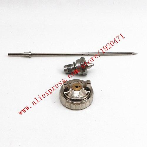 Japan W-101 spray gun nozzle, 1.0/1.3/1.5/1.8mm, Japan made, nozzle+ needle + air cap set for W101 Spray Gun
