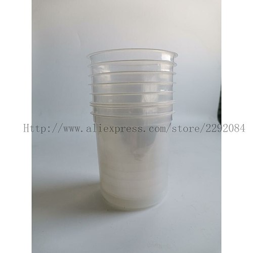 Paint Mixing Cup kit, 600ml Spray gun PPS Type H / O Quick Cup, No cleaning Cups and Collars