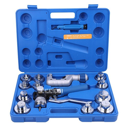 New Upgrade VHE-42B Hydraulic Tube Expander Kit Pipe Expanding Tool Set Air Conditioning Copper Tube Expander Refrigeration Tool