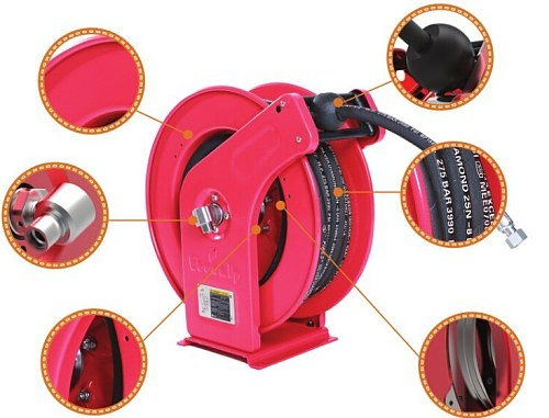 Water gas ordinary mineral oil delivery multifunctional automatic hydraulic hose reel